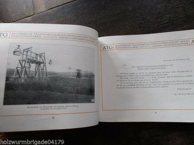 Transportanlagen Gesellschaft ATG Maschinenfabrik Leipzig Großzschocher 1922 ! 6