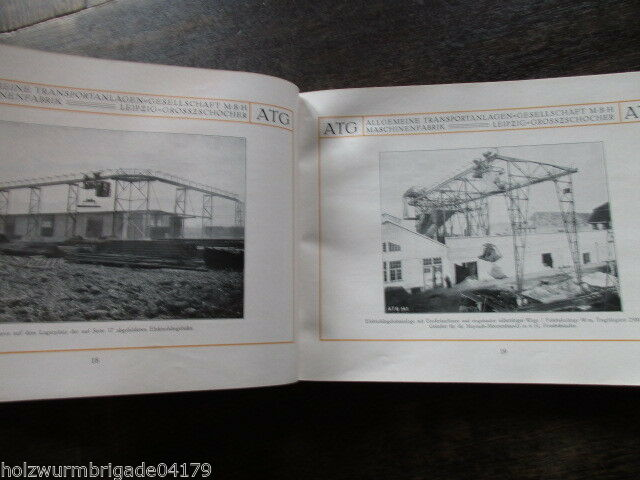 Transportanlagen Gesellschaft ATG Maschinenfabrik Leipzig Großzschocher 1922 ! 8