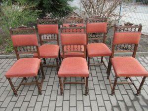 6 alte Stühle Gründerzeit um 1890 Eiche  Nr. 5