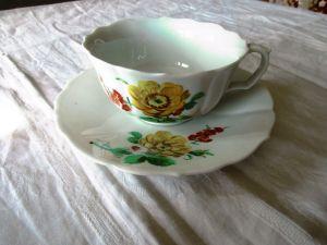 Meissen Kaffee Tee Gedeck Tasse Teller Blume 1. Wahl  (5)