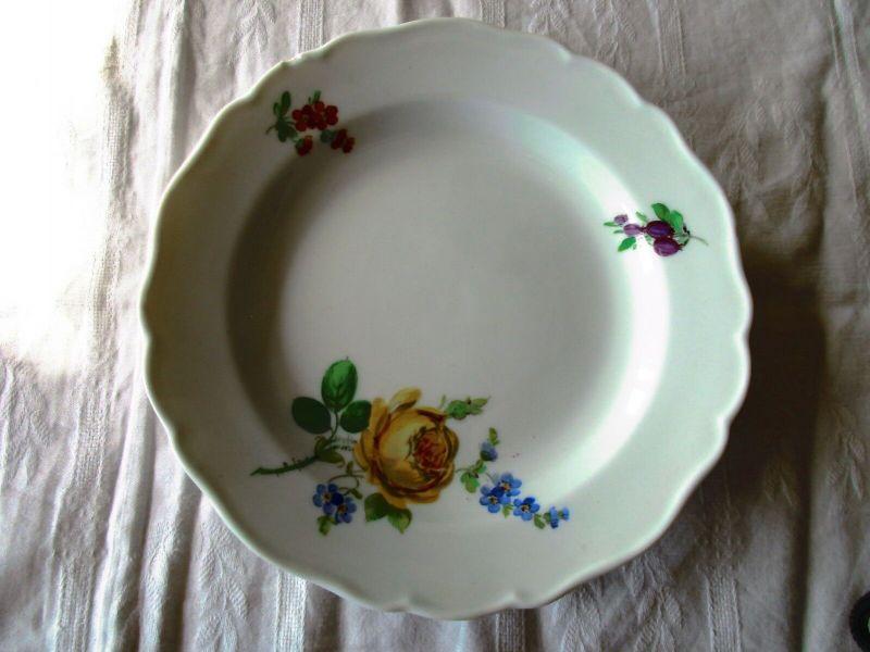 Meissen Dessertteller Kuchenteller Blume 2. Wahl Ø 17 cm (4)