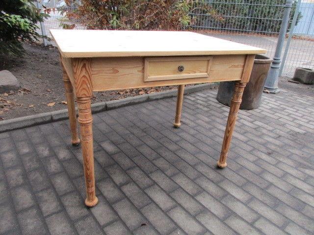 Tisch Esstisch Jugendstil um 1900 Weichholz Nr.8 mit Schub