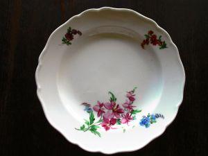 Meissen Dessertteller Kuchenteller Blume 1. Wahl Ø 17 cm (2)