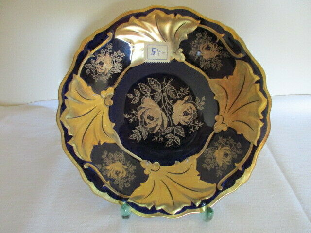 Weimarer Porzellan JUTTA Gold Rose Prunkteller 18,5 cm