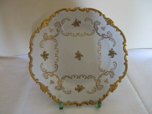 Reichenbach Gold Rose Prunkteller Dessertteller Kuchenteller Teller 19,5 cm