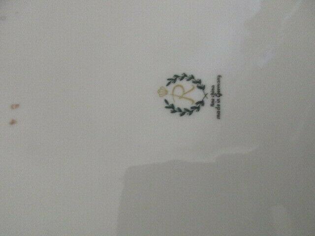 Reichenbach wunderschöner alter Prunkteller Schale grün Ø 27 cm 5