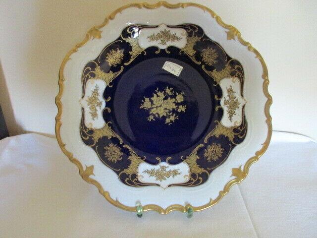 Reichenbach wunderschöner alter Prunkteller Schale Echt Kobalt Ø 32,5 cm Vitrine 0