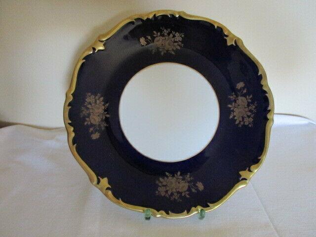 Reichenbach wunderschöner alter Prunkteller Teller Echt Kobalt Ø 28,5 cm Vitrine 1