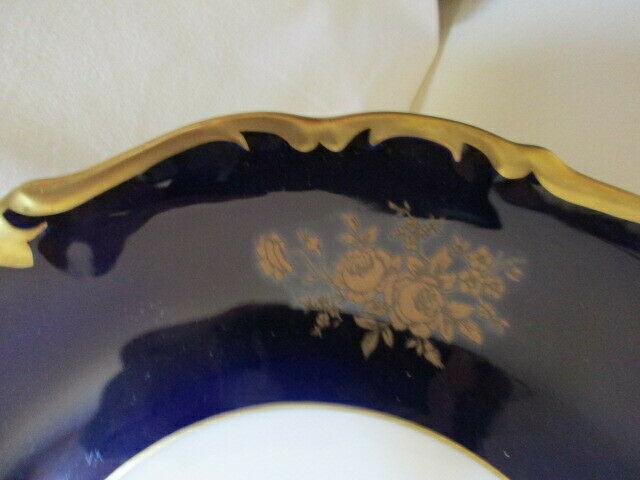 Reichenbach wunderschöner alter Prunkteller Teller Echt Kobalt Ø 28,5 cm Vitrine 2