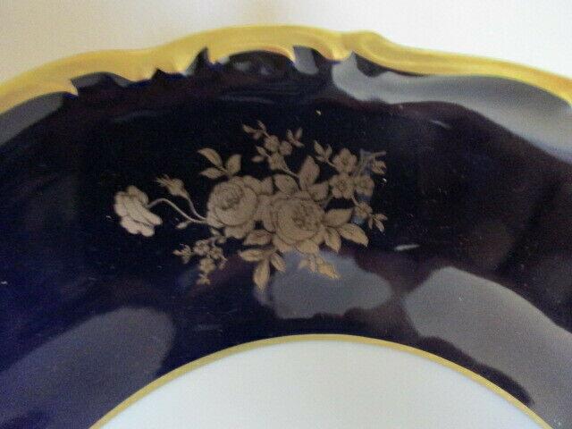 Reichenbach wunderschöner alter Prunkteller Teller Echt Kobalt Ø 28,5 cm Vitrine 3
