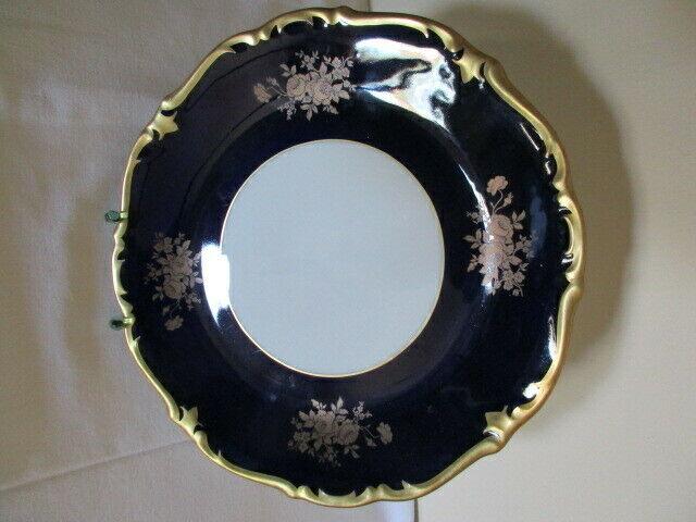 Reichenbach wunderschöner alter Prunkteller Teller Echt Kobalt Ø 28,5 cm Vitrine 4
