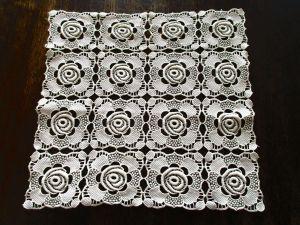 Tischdecke Deckchen Plauener Spitze ca. 29 x 29 cm