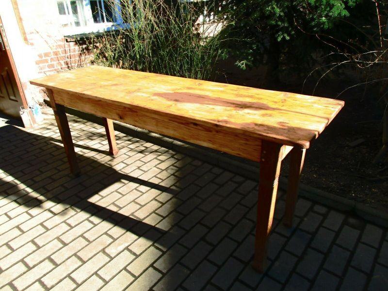 Alter Tisch Esstisch 190 cm Jugendstil Weichholz um 1900 Nr. 5