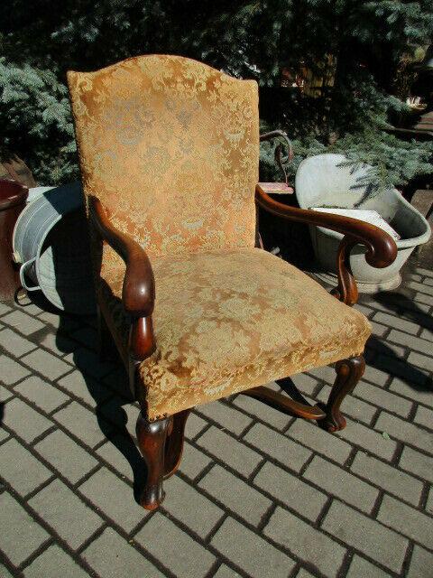 Alter Stuhl Armlehnstuhl  Eiche Jugendstil um 1910 0