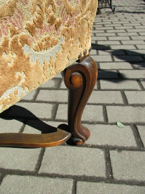 Alter Stuhl Armlehnstuhl  Eiche Jugendstil um 1910 2