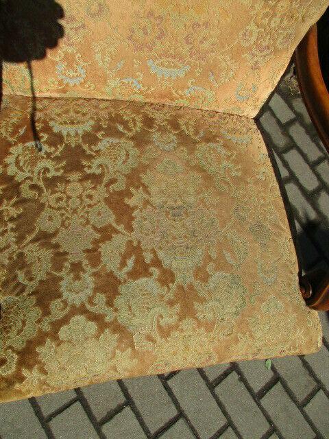 Alter Stuhl Armlehnstuhl  Eiche Jugendstil um 1910 3