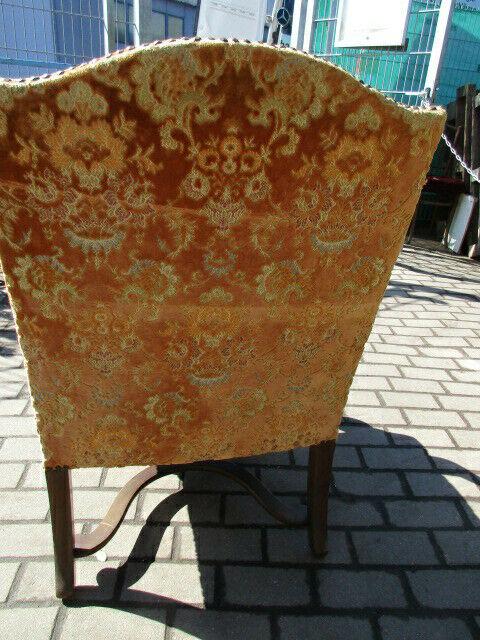 Alter Stuhl Armlehnstuhl  Eiche Jugendstil um 1910 7