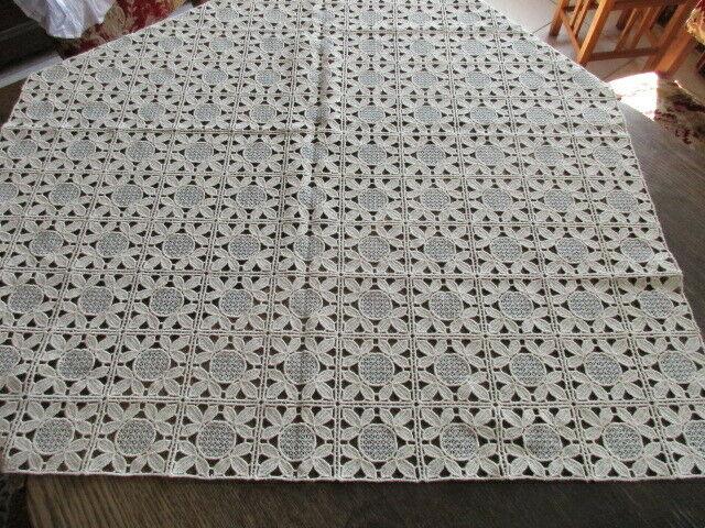 Alte Plauener Spitze Tischdecke neuwertig 85 x 85 cm