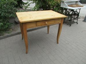 Alter Tisch Gründerzeit Weichholz um 1890  Nr.13