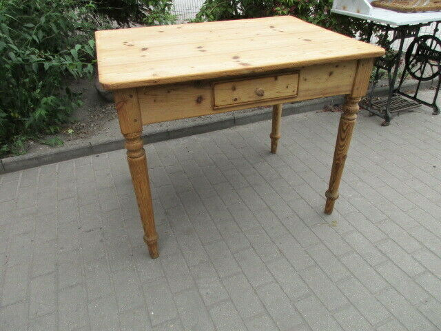 Alter Tisch Gründerzeit Weichholz um 1890  Nr.12 0
