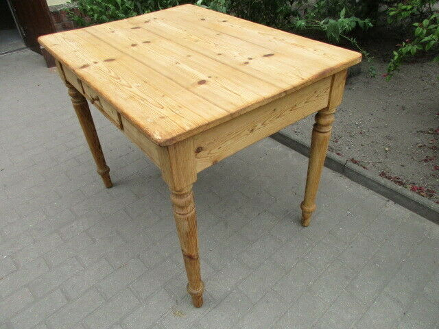 Alter Tisch Gründerzeit Weichholz um 1890  Nr.12 4