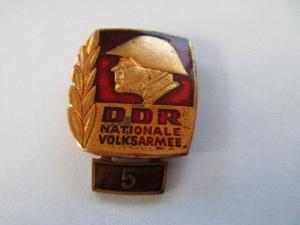 DDR NVA Bestenabzeichen Stufe 5 Polyester