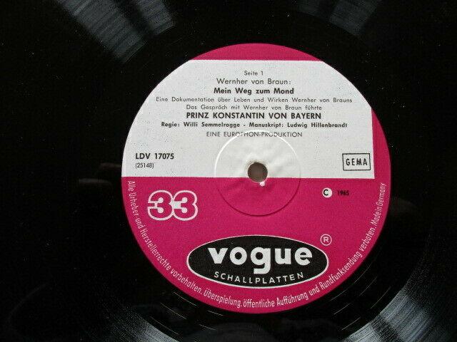 Wernher von Braun Mein Weg zum Mond Vogue LP 1965 3