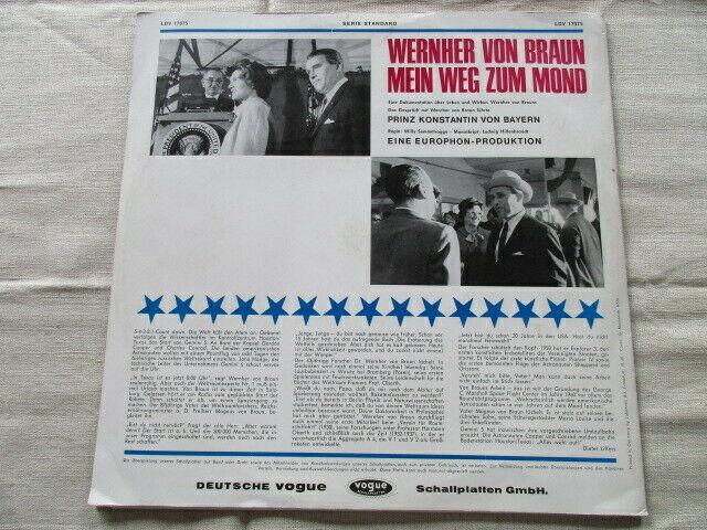 Wernher von Braun Mein Weg zum Mond Vogue LP 1965 4