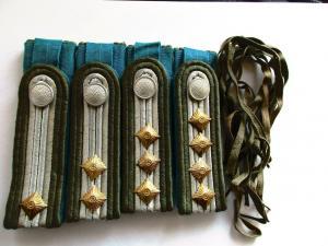 NVA 4 paar Schulterstücke Fähnrich-Stofä Luftstreitkräfte hellblau glatter Stoff