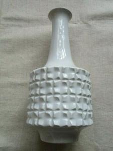 Meissen Porzellan Vase weiss Entwurf nach Ludwig Zepner 1. Wahl 24 cm