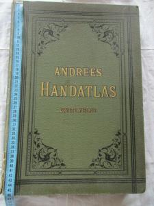 Andrees Handatlas 1893 in 91 Haupt und 86 Nebenkarten seltene Prachtausgabe