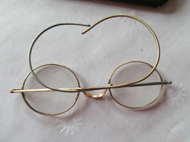 Altes Brillenetui mit Brille Franklin & Co Opticians Washington ( 2) 2