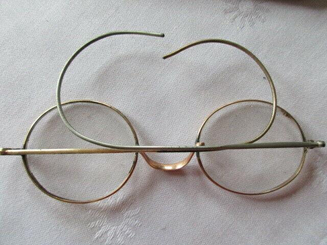 Altes Brillenetui mit Brille Franklin & Co Opticians Washington ( 2) 3