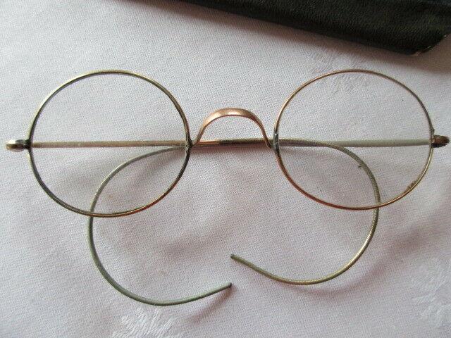 Altes Brillenetui mit Brille Franklin & Co Opticians Washington ( 2) 4