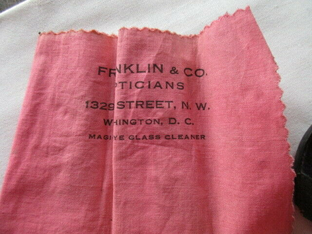 Altes Brillenetui mit Brille Franklin & Co Opticians Washington ( 2) 5