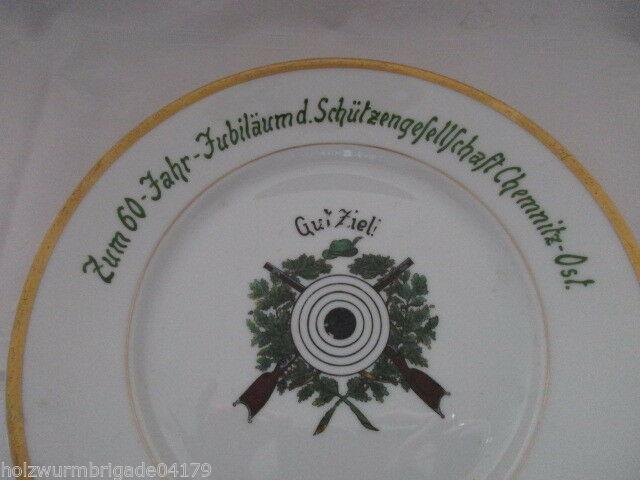 Teller Jubiläum Schützengesellschaft Chemnitz Ost 1871- 1931 Hutschenreuther 1