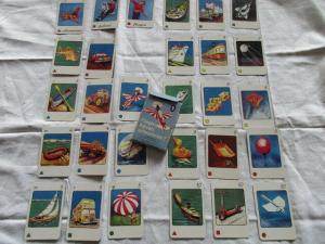 Altes Bildkartenspiel FLIEGEN, FAHREN, SCHWIMMEN? Altenburger Spielkartenfabrik