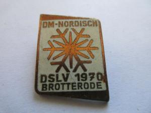 DDR Abzeichen Sport DM-NORDISCH  DSLV  1970 BROTTERRODE