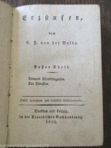 C.F. van der Velde Schriften 1. Theil Erzstufen von 1826!