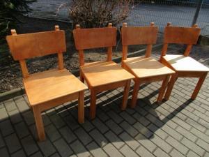 Vier alte Stühle Jugendstil um 1900 Holz  Nr. 4