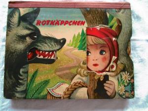 Rotkäppchen Artia Verlag Kubasta 1957 Pop Up Kulissenbuch Märchen seltene Ausgab