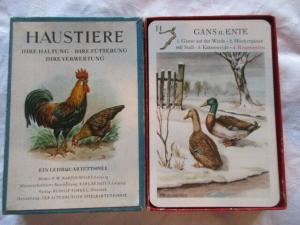 Quartettspiel HAUSTIERE R. Forkel Pössneck  Altenburger Spielkartenfabrik 1957