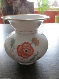 Schöne alte Vase Blumendekor Rosenthal