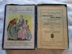 Quartett Andere Zeiten andere Kleider R. Forkel Pössneck  Altenburger Karte 1954