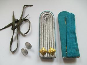 NVA 1 paar Schulterstücke   Leutnant  Luftstreitkräfte