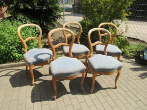 5 schöne alte Biedermeier Stühle Stuhl Weichholz