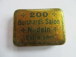 Seltene alte Grammophon Nadeldose 200 Burchard`s Salon Nadeln extra zart