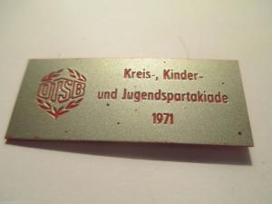 DDR Abzeichen DTSB Kreis-.Kinder- und Jugendspartakiade 1971