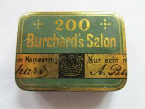 Seltene alte Grammophon Nadeldose 200 Burchard`s Salon Nadeln