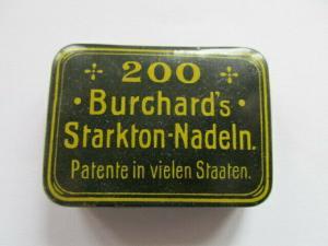 Seltene alte Grammophon Nadeldose 200 Burchard`s Starkton Nadeln